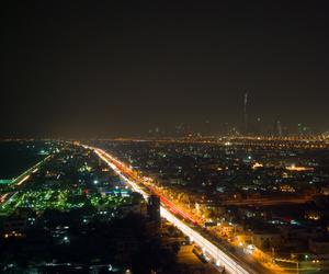 night shots, pentax k10d, and dubai skyline image