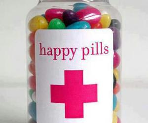 colourful, happy, and pills image