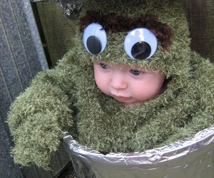 baby, costume, and eyes image