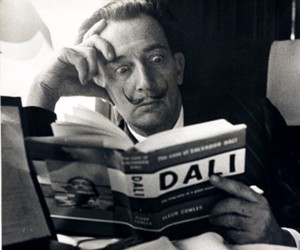 dali, salvador dali, and book image