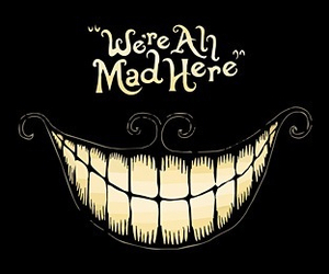 Cheshire cat and mad image
