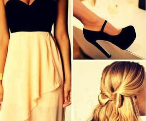 dress, hair, and shoes image