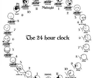 internet, clock, and funny image