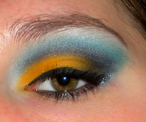 black, yellow, and blue image