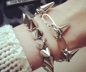 bracelets, jewelry, and spiked image