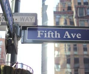 new york, street, and fifth avenue image