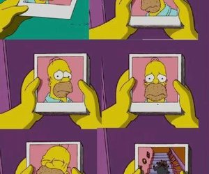 homer, simpsons, and cat image