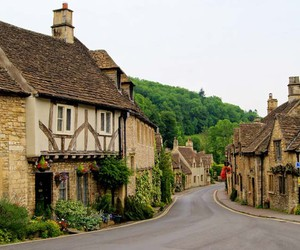 cotswolds, house, and village image