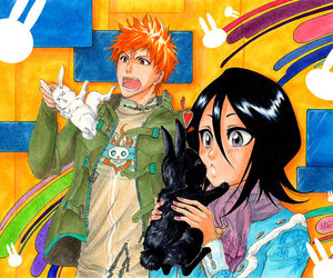 bleach, ichiruki, and bunnies image