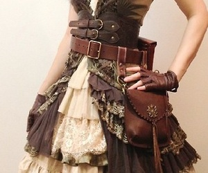 steampunk, dress, and pirate image
