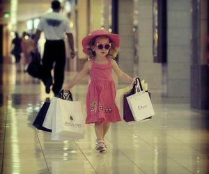 girl, shopping, and baby image