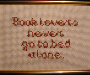 alone, i love books, and bed image