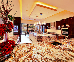 kitchen, luxury, and roses image