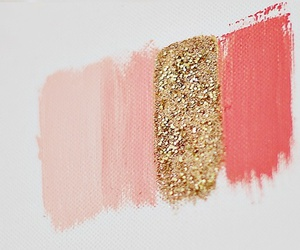 pink, gold, and glitter image