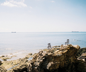 sea, waves, and chair image