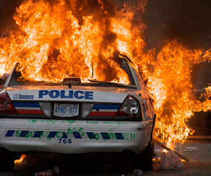 fire, police, and car image
