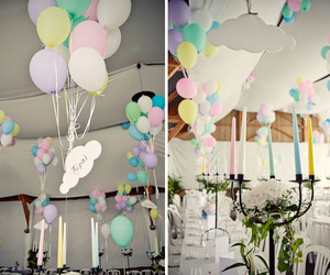 balloons, candles, and color image