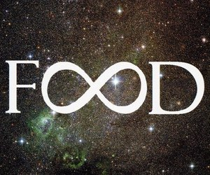 food, infinity, and galaxy image