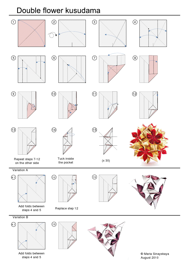 Kusudama Origami Flower Diagram House Wiring Diagram Symbols