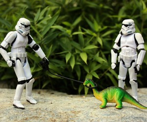 dinosaur, star wars, and stormtroopers image