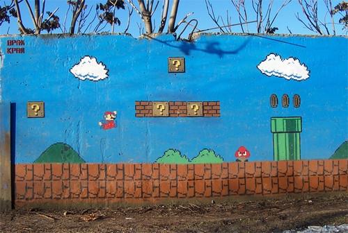 graffiti and mario image