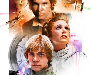 art, leia, and han solo image
