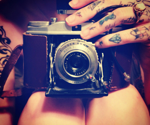 camera, tattoo, and photography image