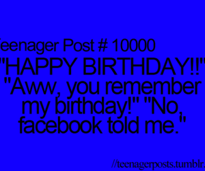 facebook, happy birthday, and life image