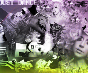 just dance, bad romance, and Lady gaga image