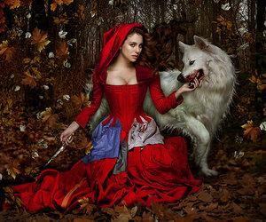 wolf, red, and caperucita roja image