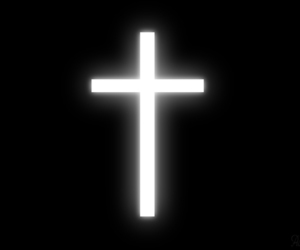 cross and black and white image