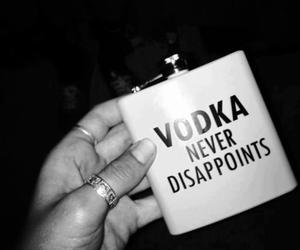 vodka, alcohol, and black and white image