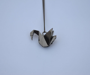 necklace, origami, and Swan image