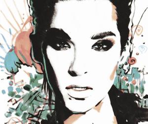 bill kaulitz, tokio hotel, and art image