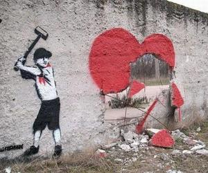 heart, art, and wall image