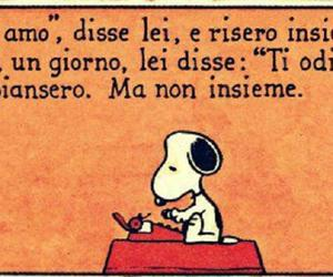 amore, peanuts, and snoopy image