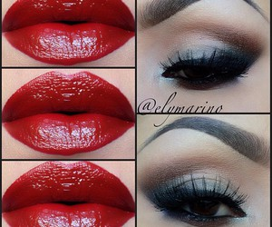 color, lips, and make up image