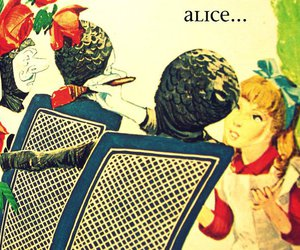 alice, alice in wonderland, and red image