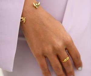 fashion, bird, and bracelet image