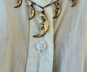 moon, necklace, and vintage image