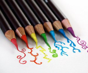 art, colors, and pencil image