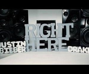 Drake, video, and justin bieber image