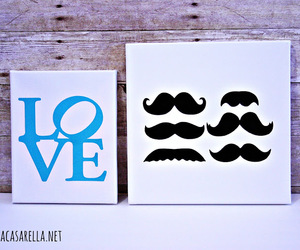 art, canvas, and mustache image