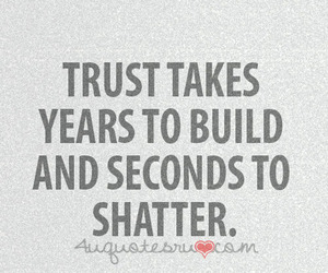 quote, text, and trust image