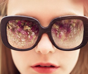 floral, photography, and sunglass image