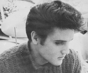 Elvis Presley, black and white, and photography image
