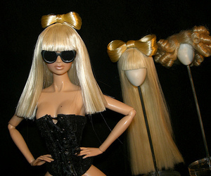 barbie, Lady gaga, and blonde image