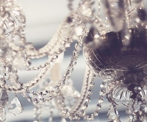 chandelier, crystal, and aesthetic image