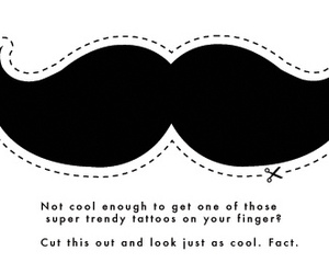moustache, mustache, and cool image