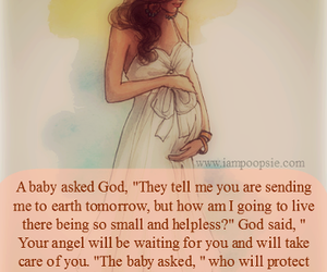 love, baby, and angel image